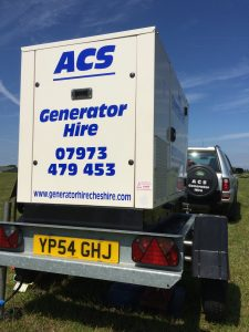 Large Generators for outdoor events - Generator Hire Cheshire
