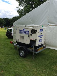 Portable generator for outdoor events